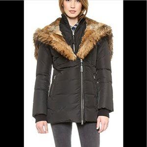 Mackage Black Akiva Jacket Size XS with Fur Hood